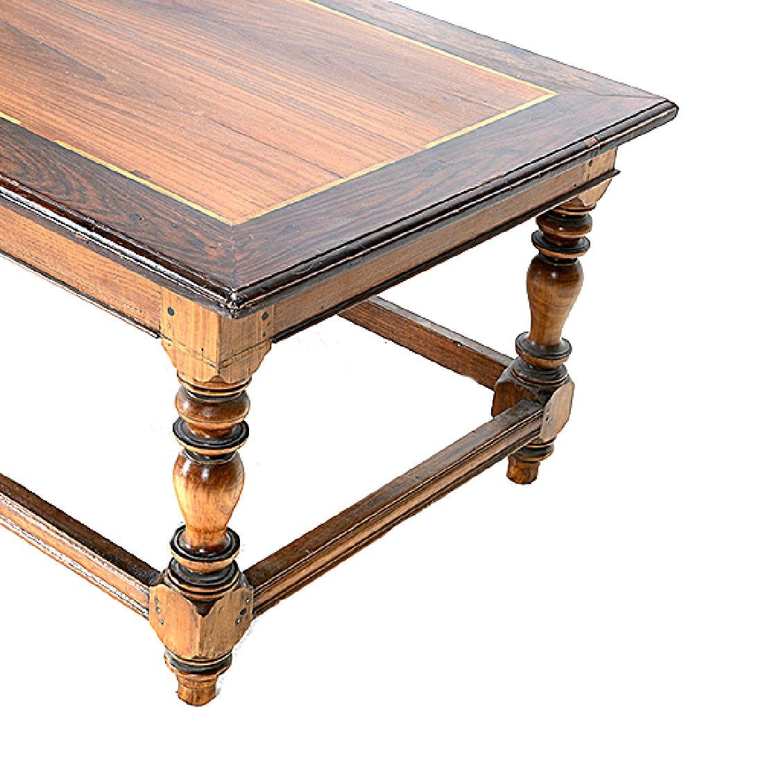 Anglo Indian Ebonized and Inlaid Teak Low Table - 2
