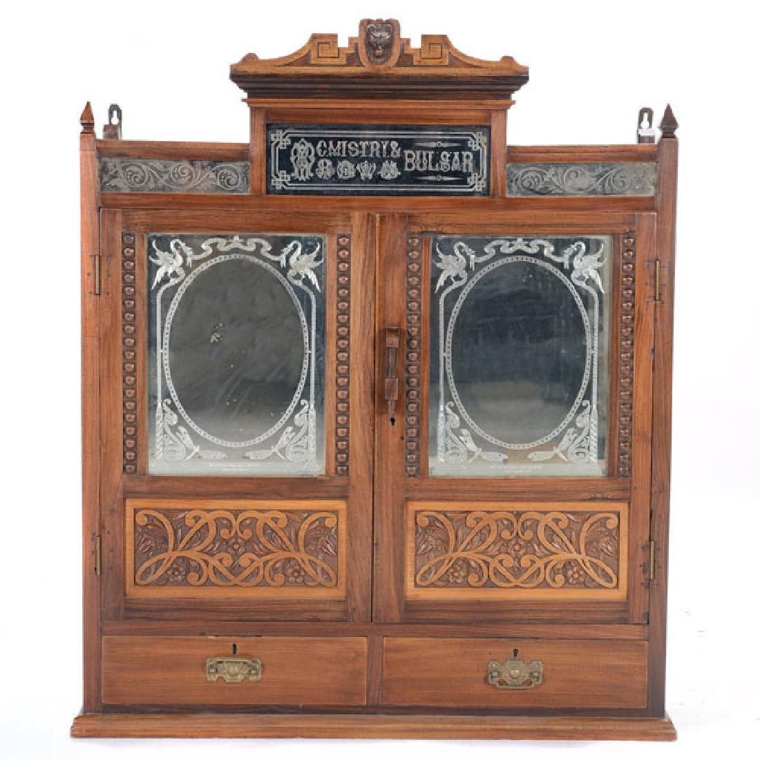Anglo Indian Art Nouveau Hanging Cabinet