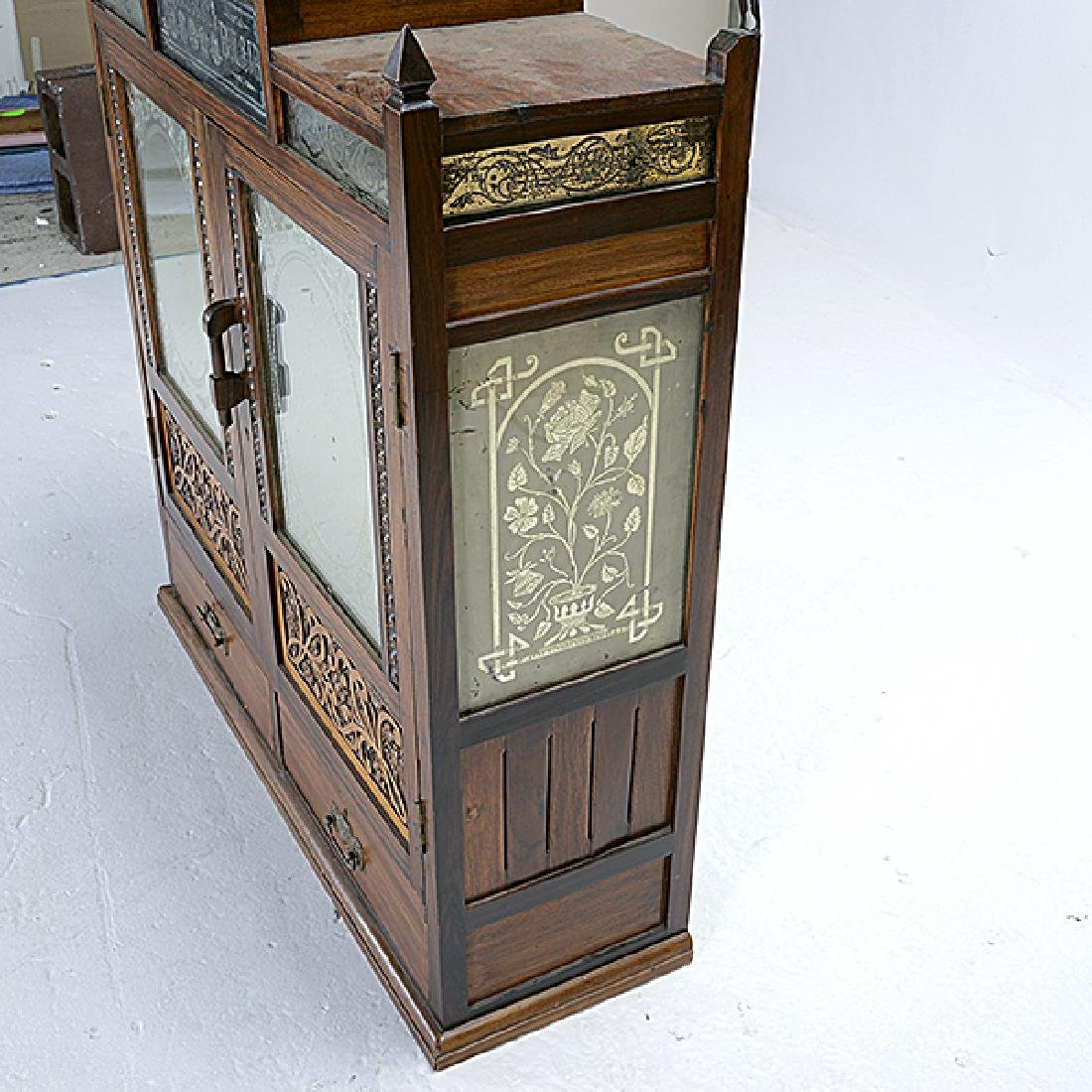 Anglo Indian Art Nouveau Hanging Cabinet - 3