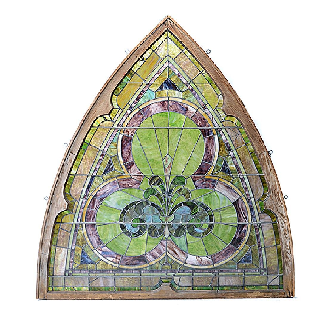 Art Nouveau Stained Glass Window - 2