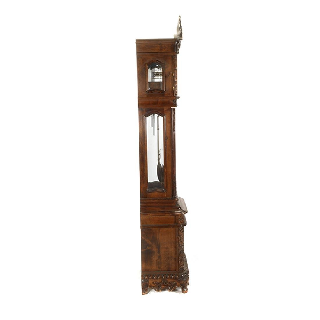 Continental Rococo Style Walnut Tall Case Clock - 2