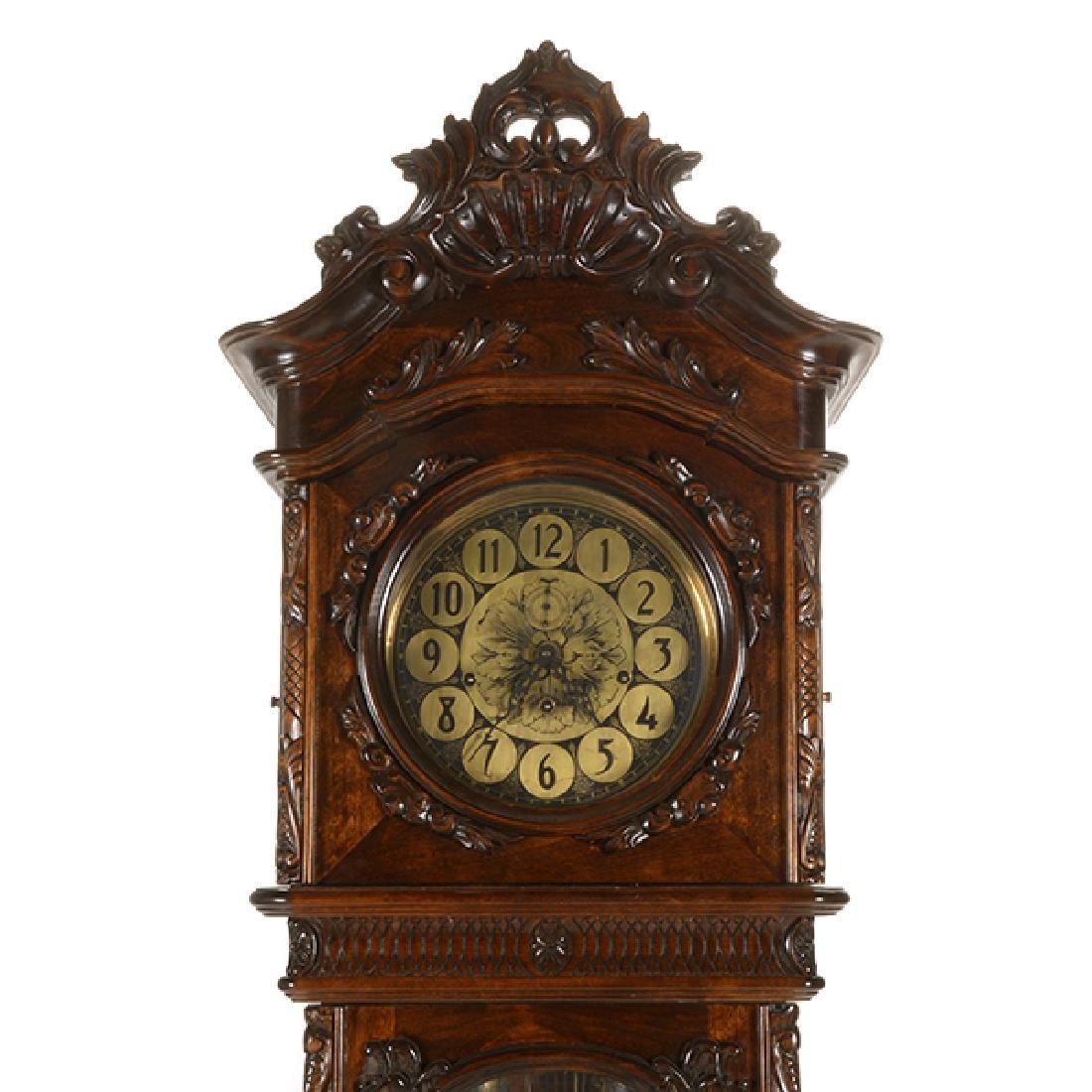 Continental Rococo Style Walnut Tall Case Clock - 4