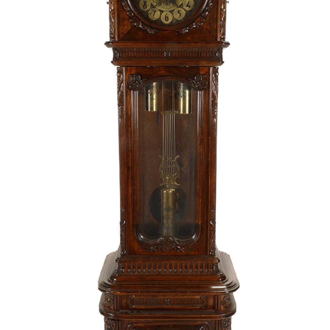 Continental Rococo Style Walnut Tall Case Clock - 5
