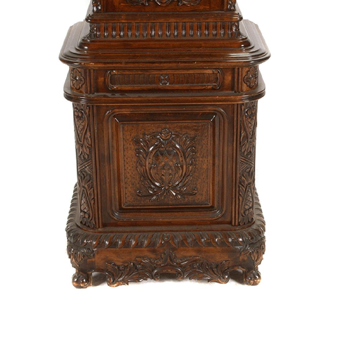 Continental Rococo Style Walnut Tall Case Clock - 9