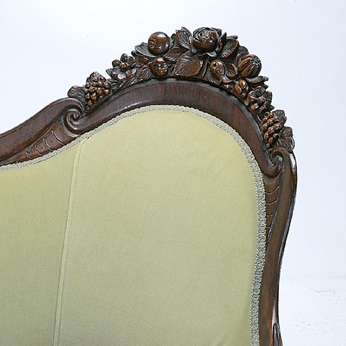 American Rococo Carved Sofa, Attributed to John Henry - 2