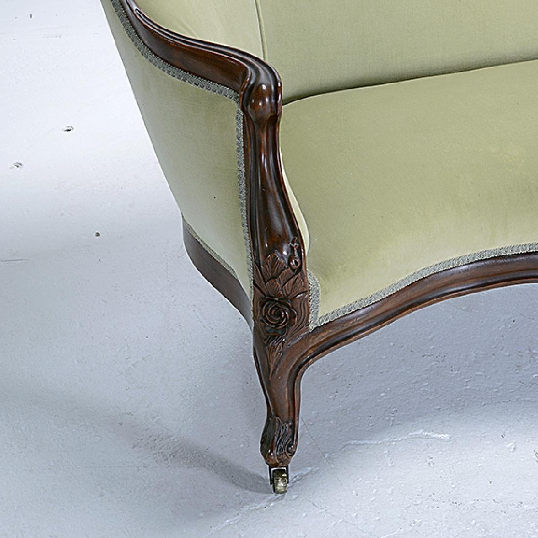 American Rococo Carved Sofa, Attributed to John Henry - 4
