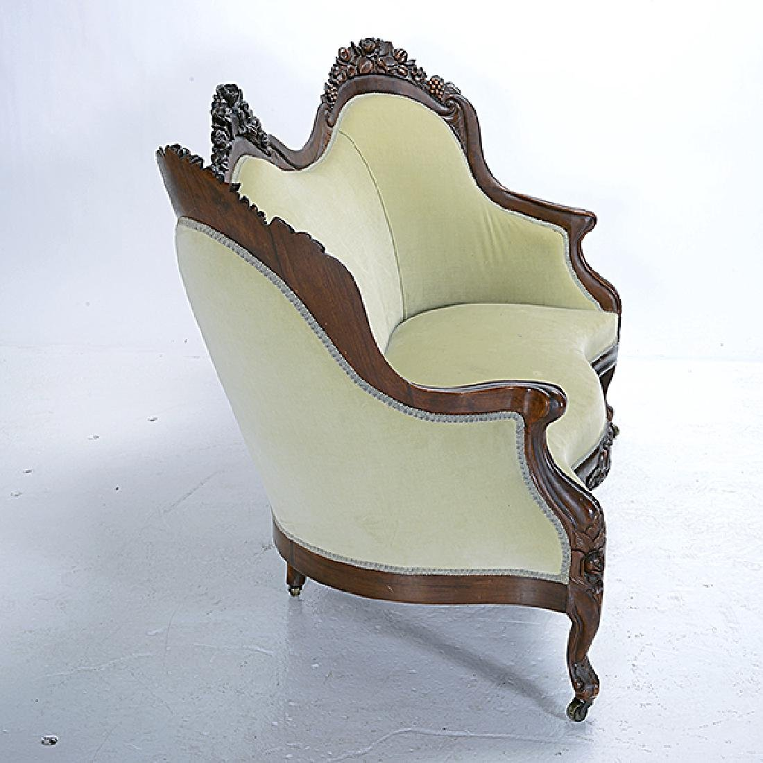 American Rococo Carved Sofa, Attributed to John Henry - 5