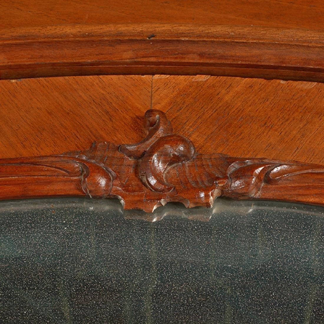 Louis XV Style Walnut Triple Mirrored Armoire - 7
