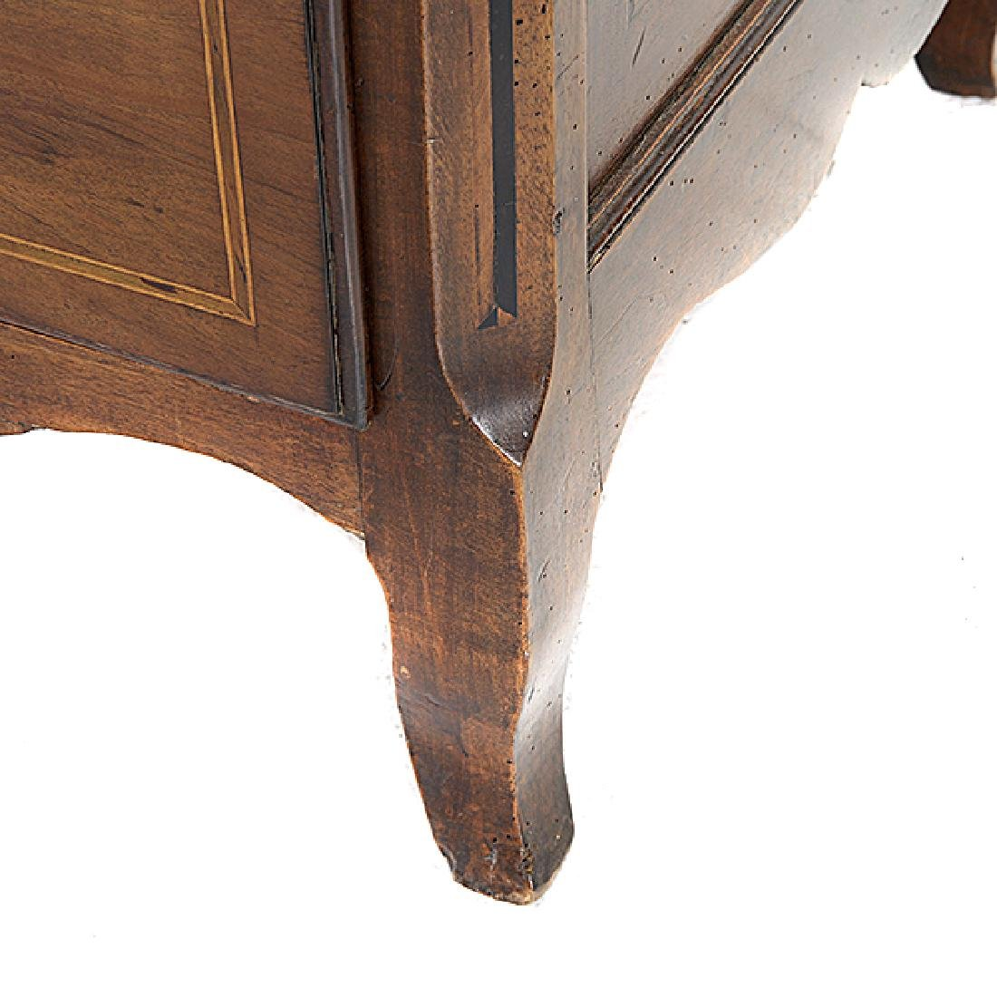 French Provincial Walnut Inlaid Commode - 4