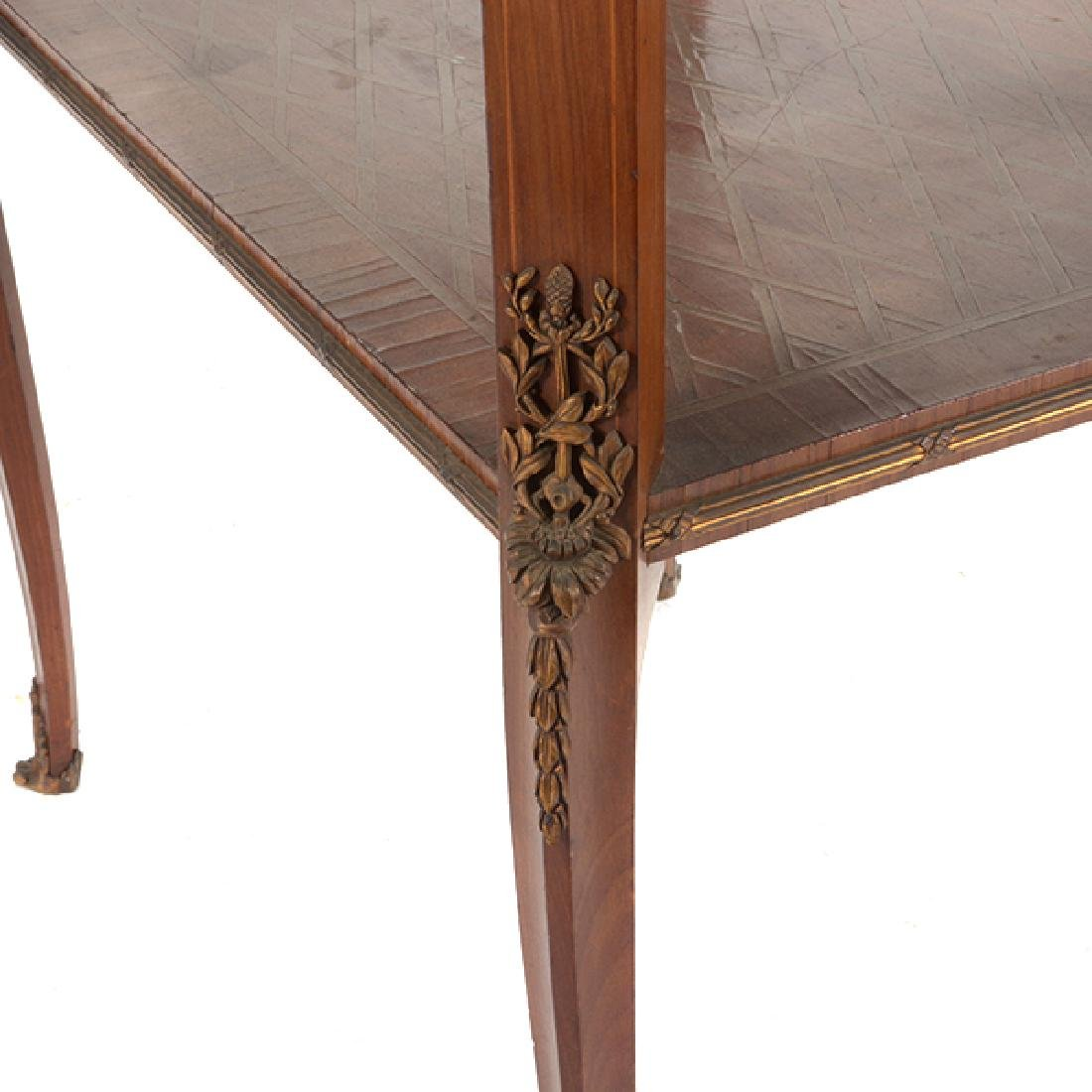 Louis XVI Style Gilt Bronze Mounted Parquetry and - 5