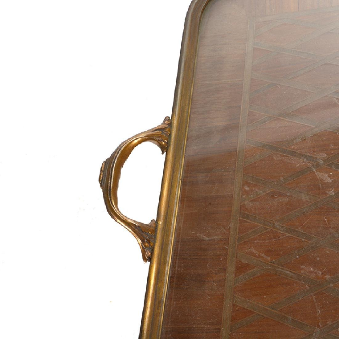 Louis XVI Style Gilt Bronze Mounted Parquetry and - 7