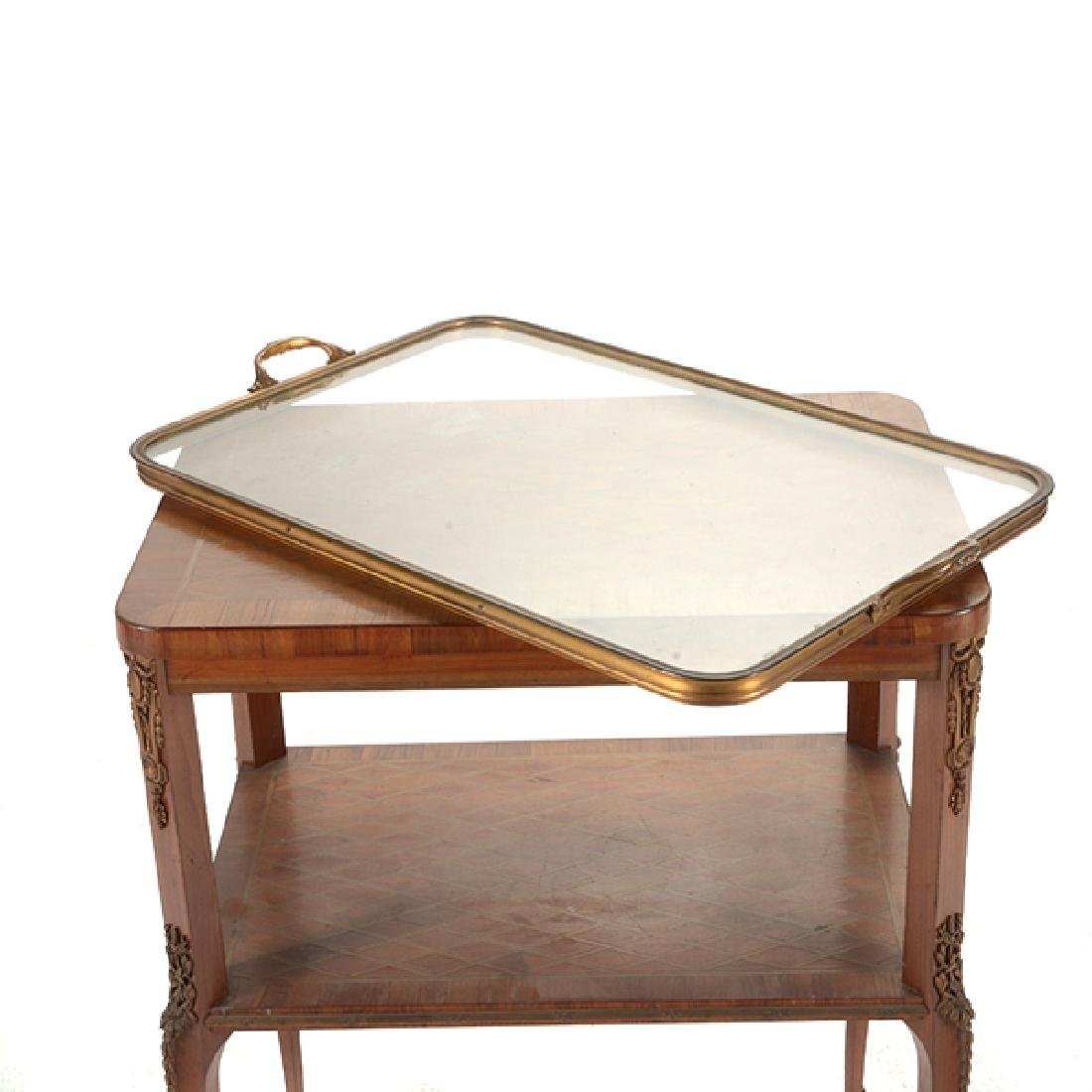 Louis XVI Style Gilt Bronze Mounted Parquetry and - 9