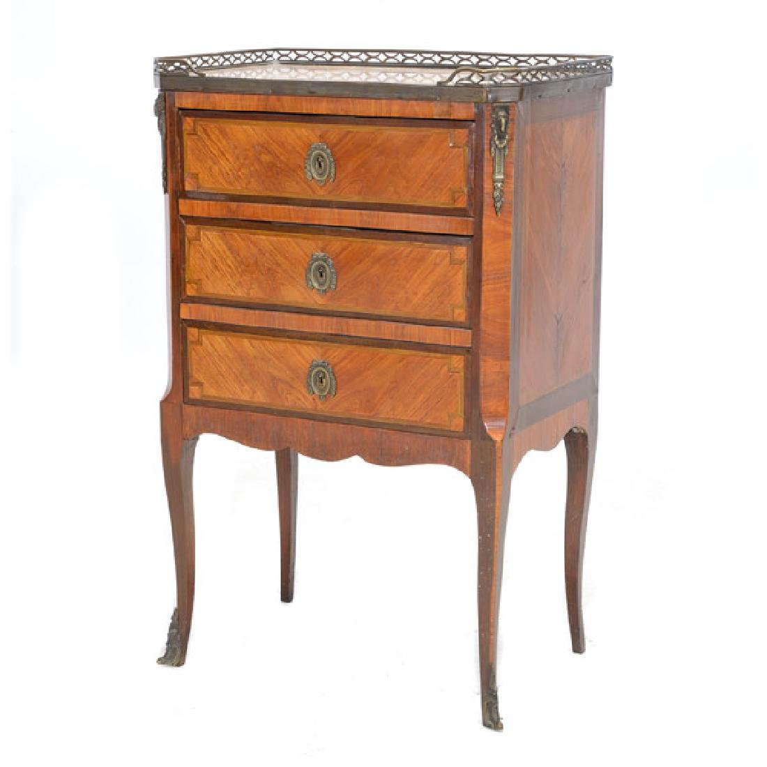Louis XVI Style Kingwood Marquetry Commode with Breche