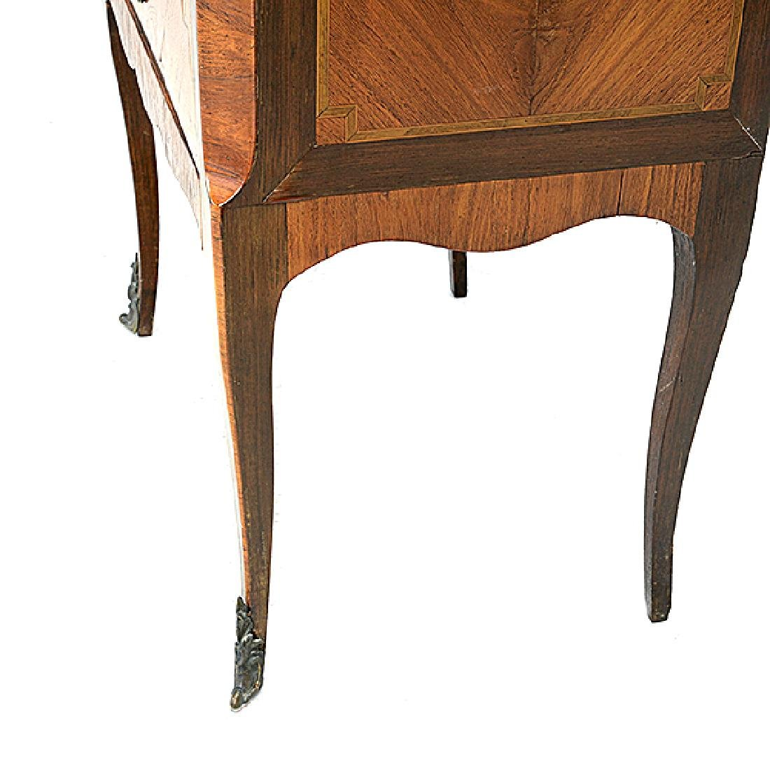 Louis XVI Style Kingwood Marquetry Commode with Breche - 4