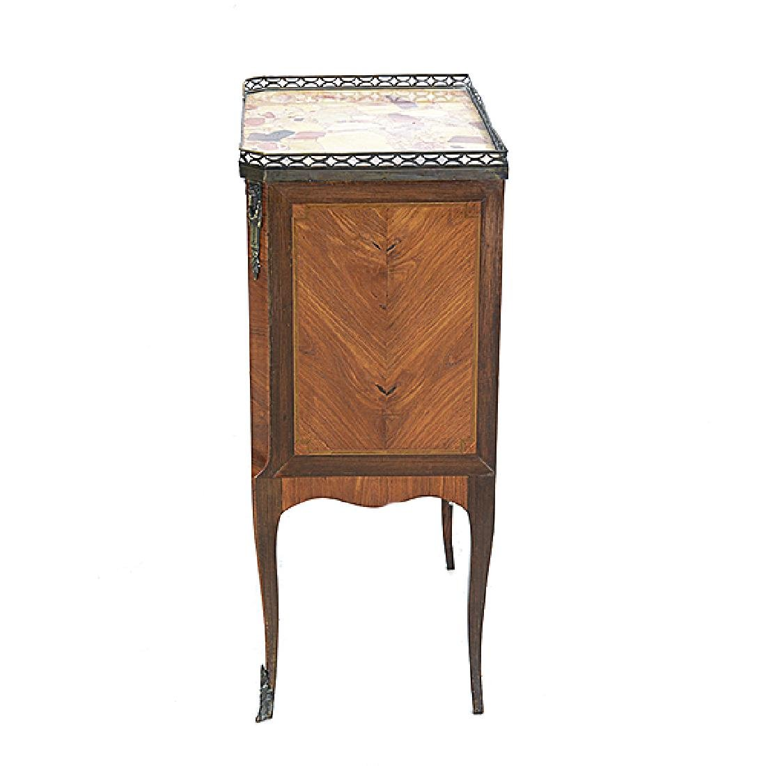 Louis XVI Style Kingwood Marquetry Commode with Breche - 5
