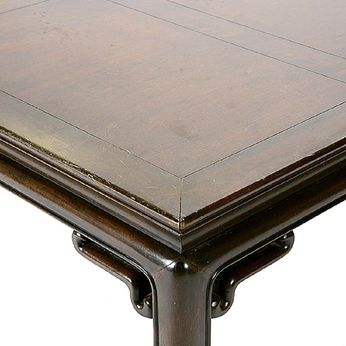 Baker Chinese Style Dining Table with Three Leaves - 3