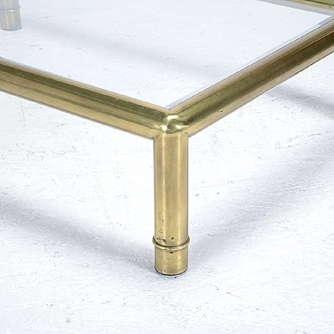 Mastercraft Brass Coffee Table with Glass Top - 2