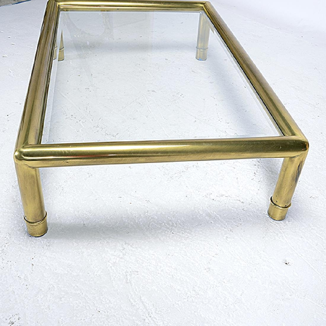 Mastercraft Brass Coffee Table with Glass Top - 4
