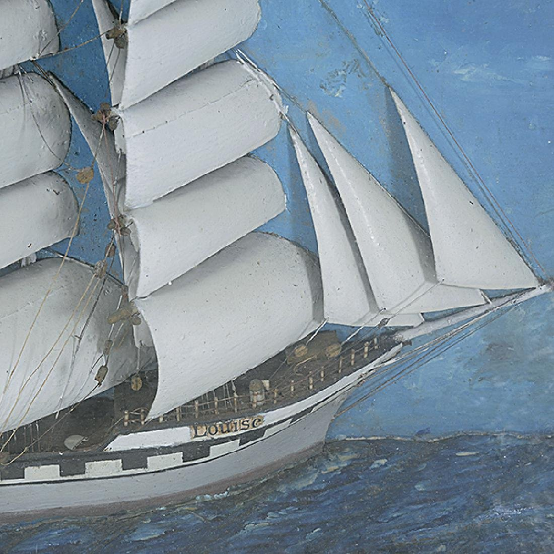 Diorama of the Ship Louise - 4