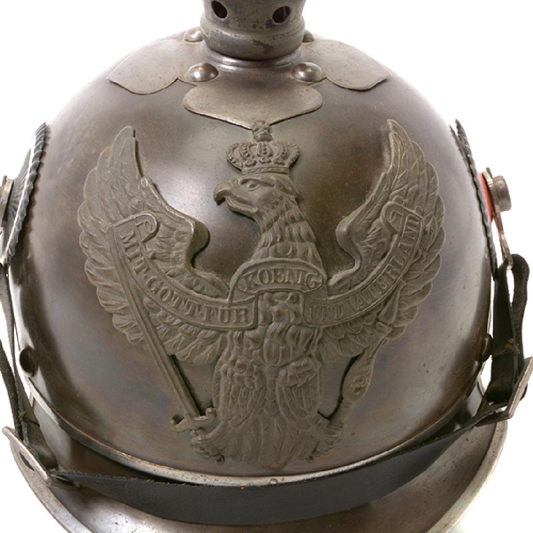 Bavarian Officer's Pickelhaube with Prussian Artillery - 10
