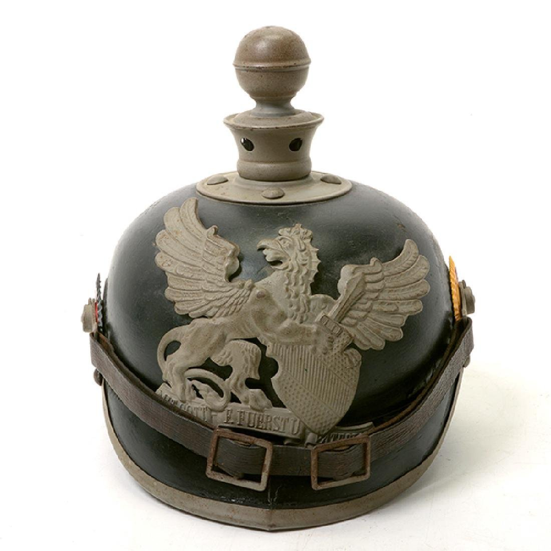 Bavarian Officer's Pickelhaube with Prussian Artillery - 2