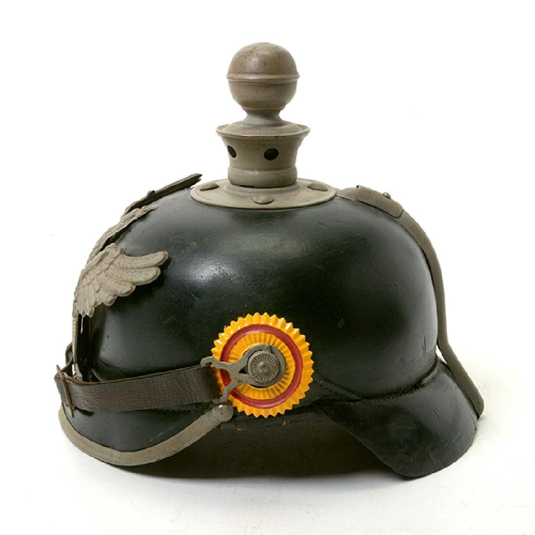 Bavarian Officer's Pickelhaube with Prussian Artillery - 3