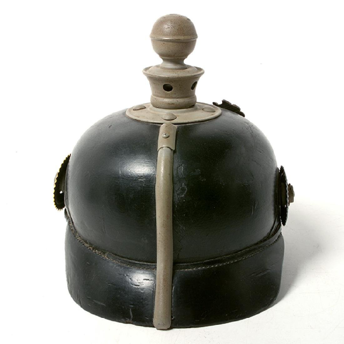 Bavarian Officer's Pickelhaube with Prussian Artillery - 4