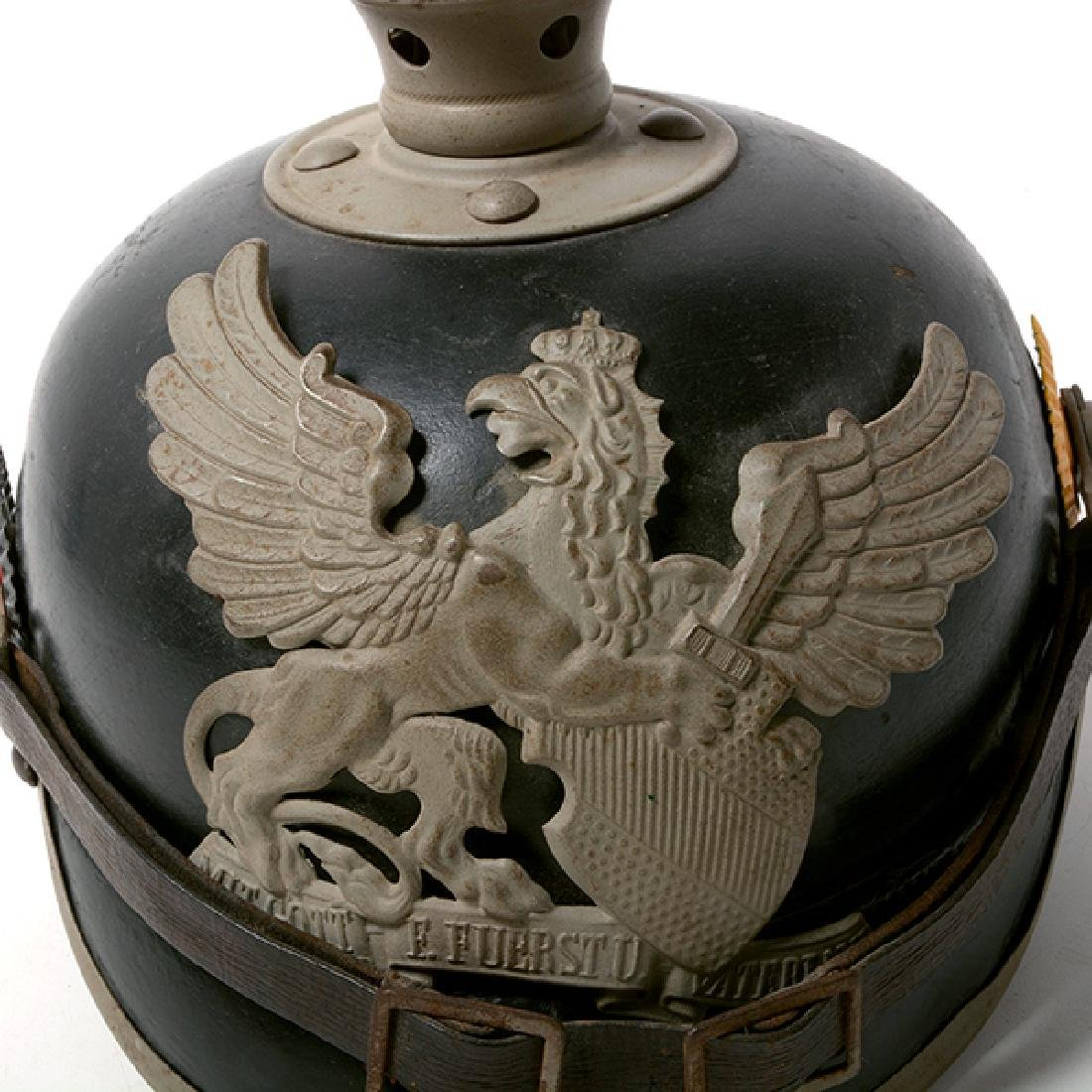 Bavarian Officer's Pickelhaube with Prussian Artillery - 5