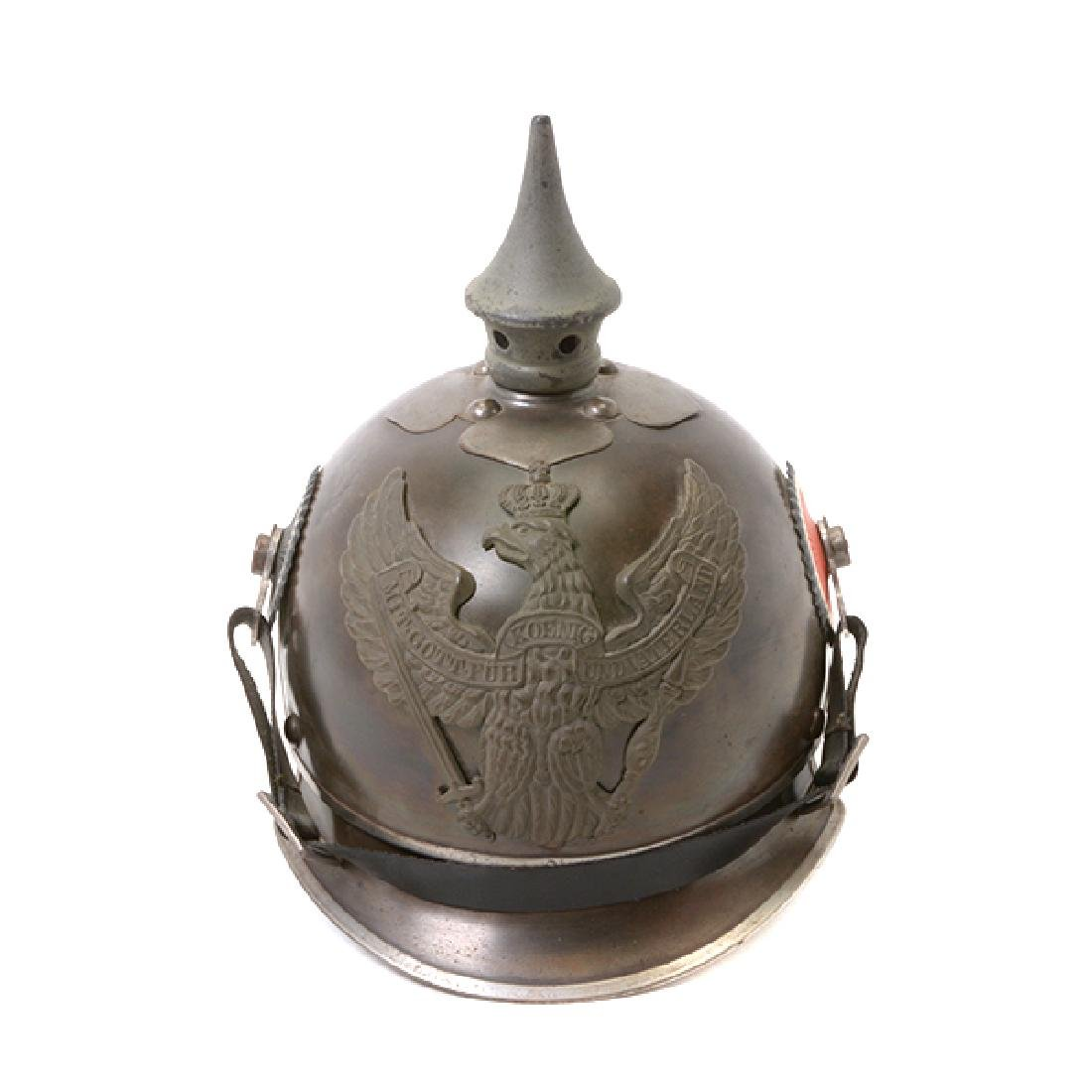 Bavarian Officer's Pickelhaube with Prussian Artillery - 7