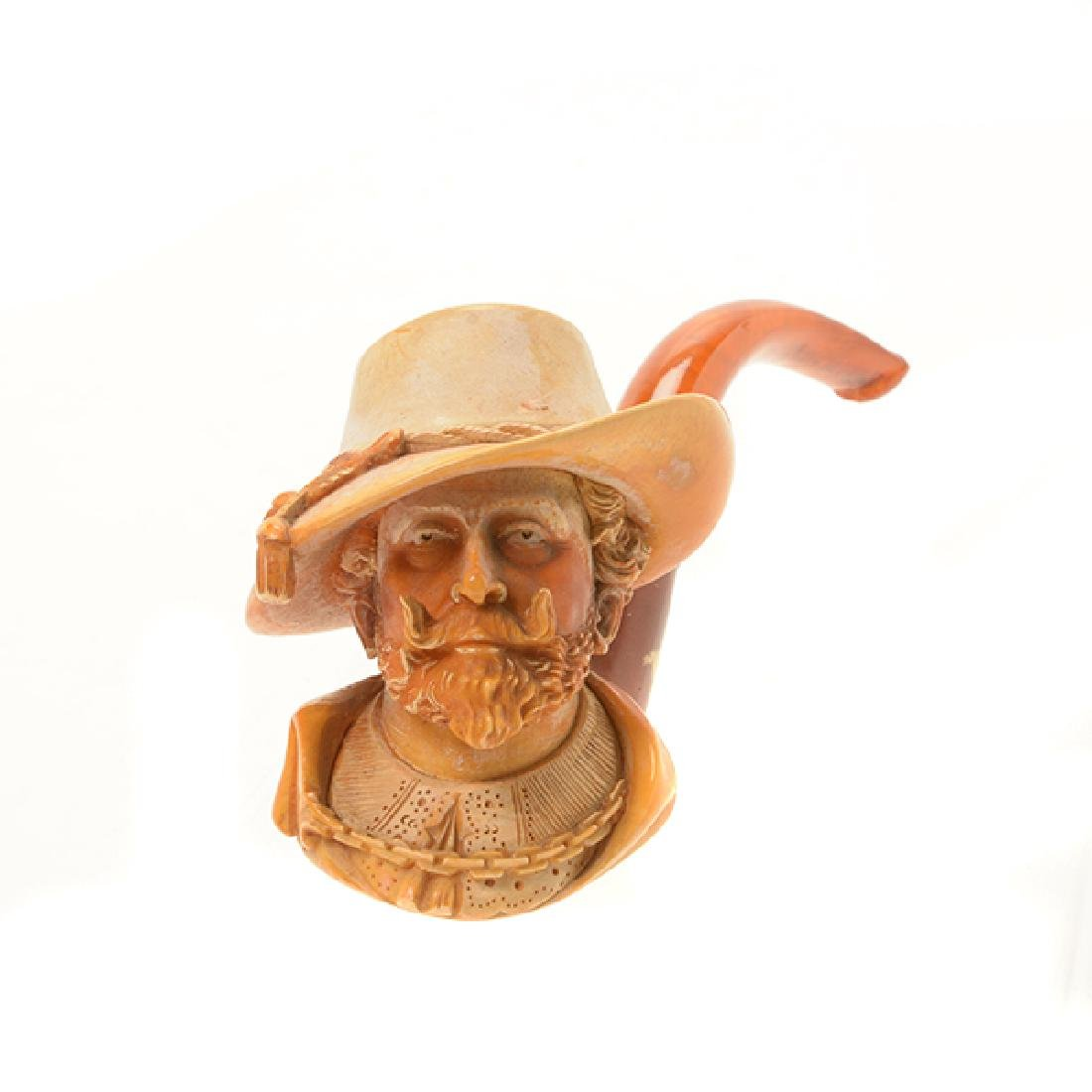 Meerschaum Cased Pipe of Sir Walter Raleigh - 2