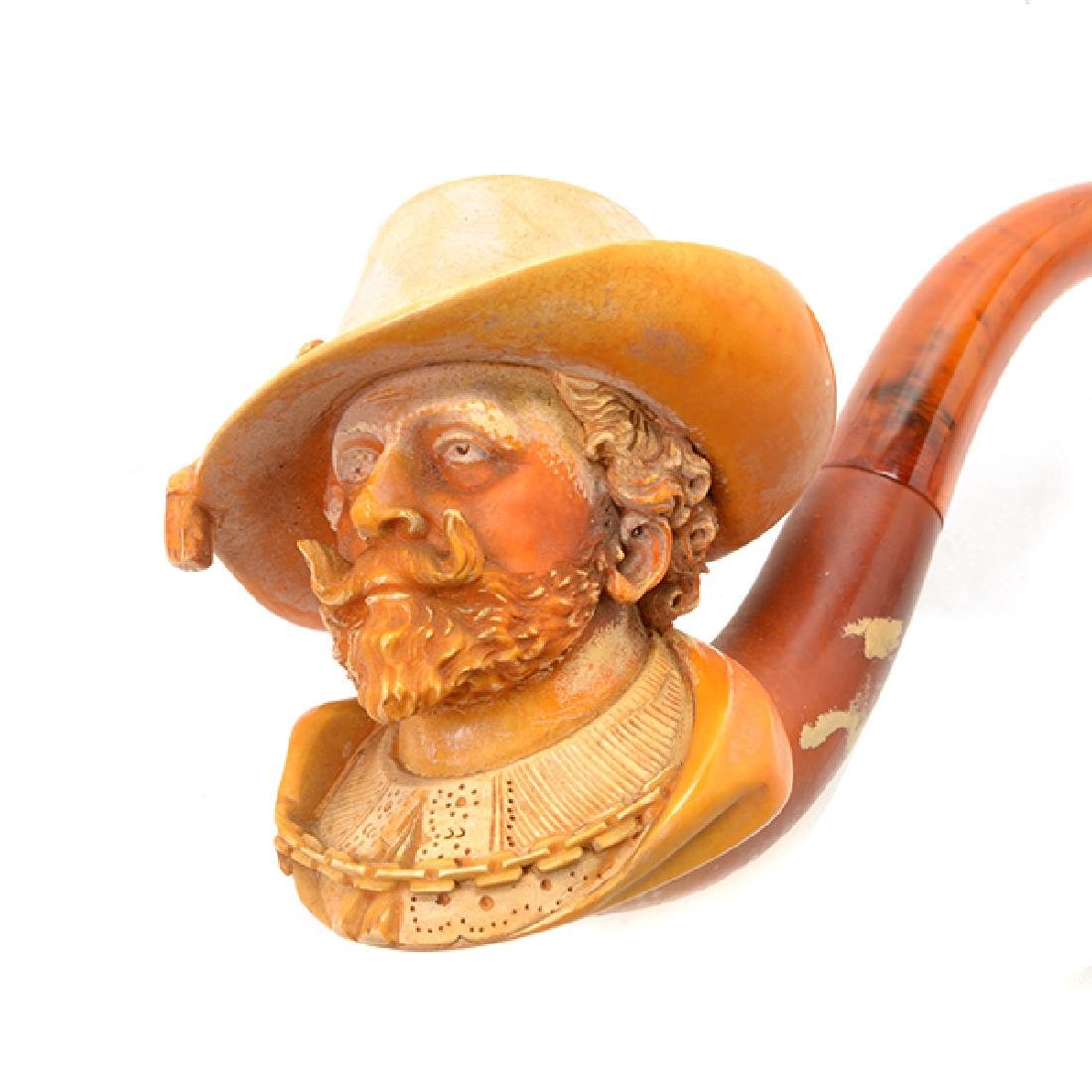 Meerschaum Cased Pipe of Sir Walter Raleigh - 6