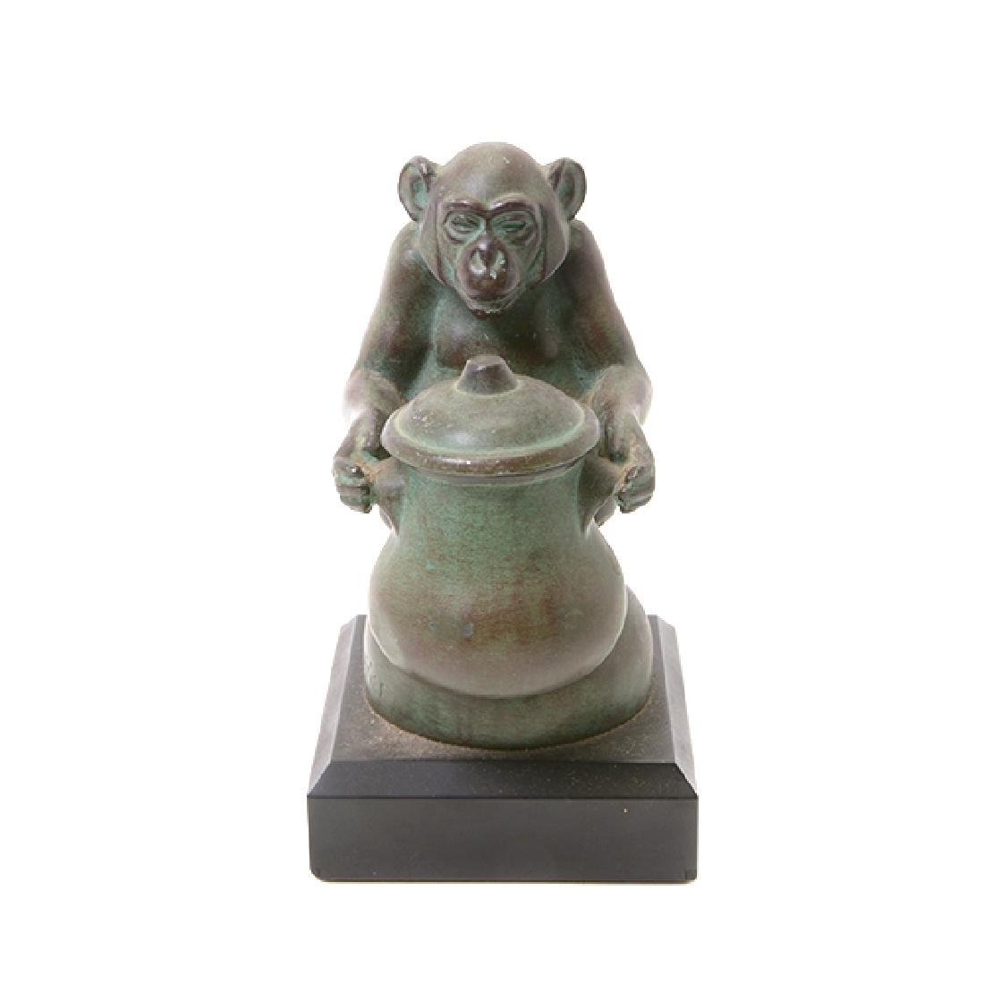 Pair of Bronze Monkey Figures, After M. LeVerrier - 2