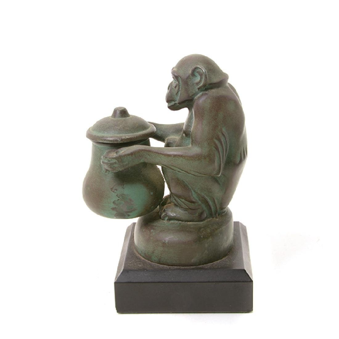Pair of Bronze Monkey Figures, After M. LeVerrier - 3