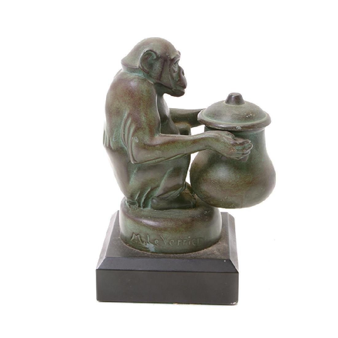 Pair of Bronze Monkey Figures, After M. LeVerrier - 5