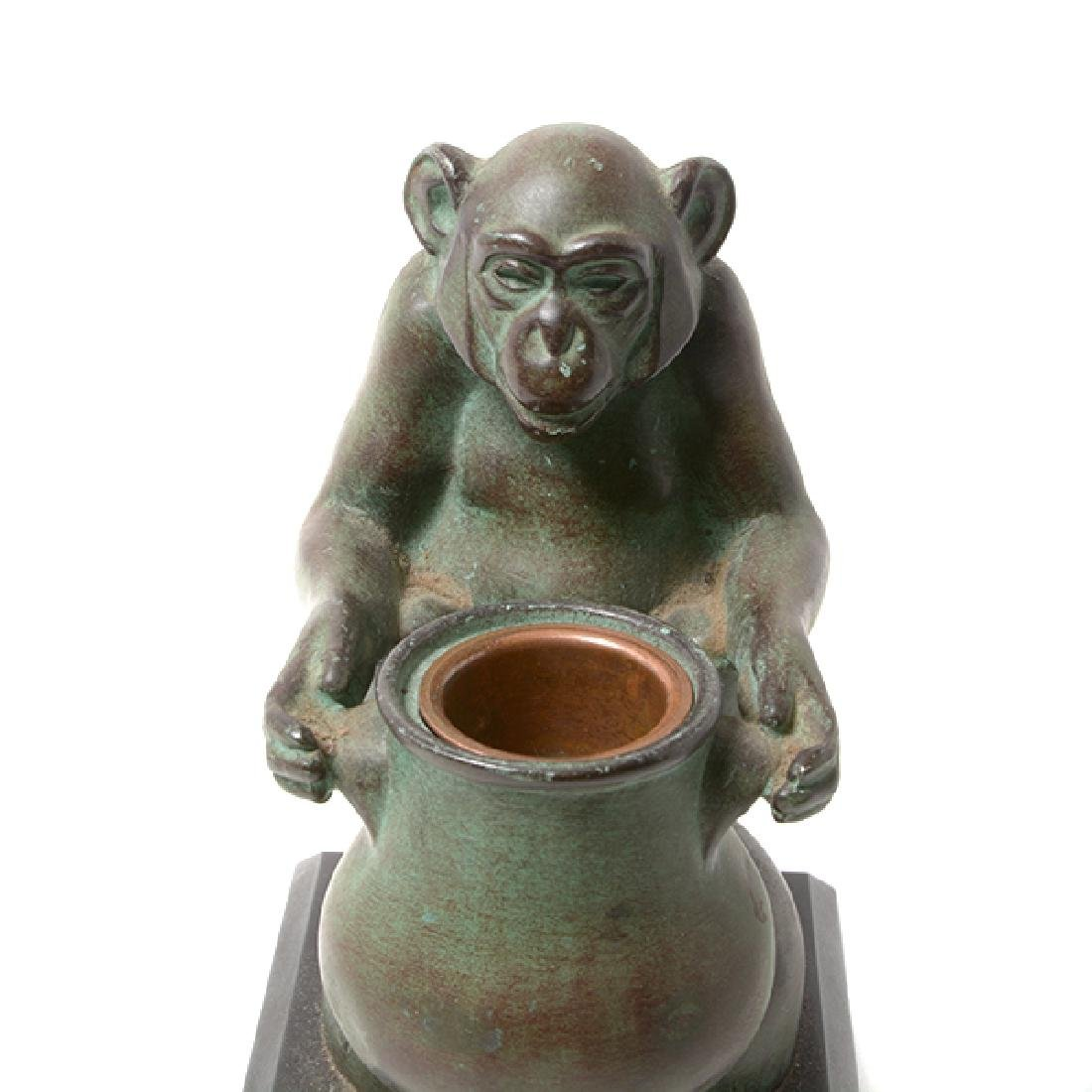 Pair of Bronze Monkey Figures, After M. LeVerrier - 6