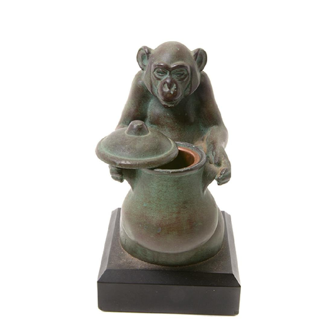 Pair of Bronze Monkey Figures, After M. LeVerrier - 7