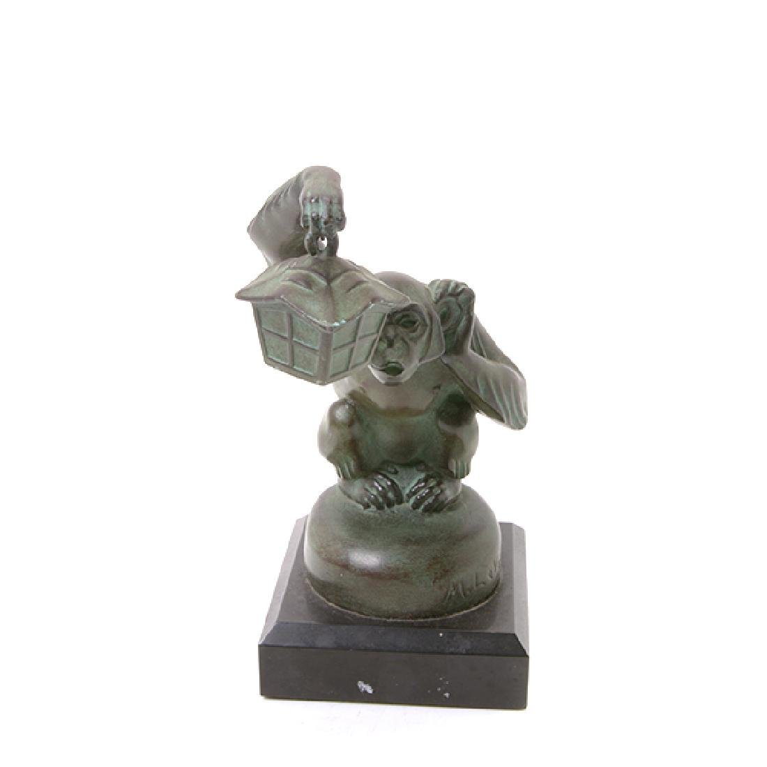 Pair of Bronze Monkey Figures, After M. LeVerrier - 8