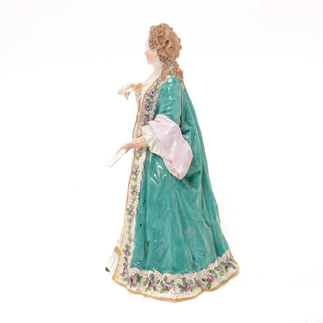 Collection of Three French Porcelain Court Lady Figures - 10
