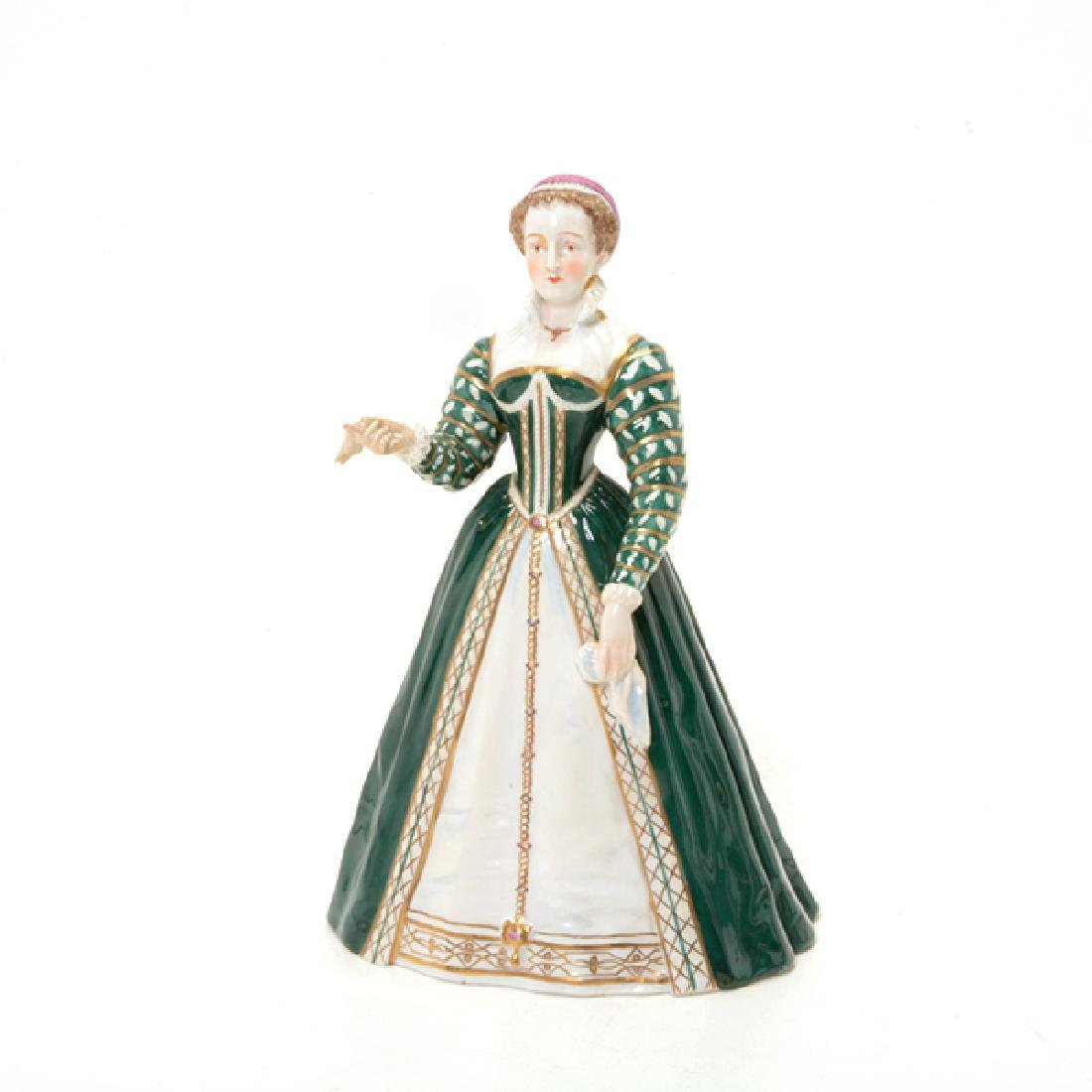 Collection of Three French Porcelain Court Lady Figures - 2