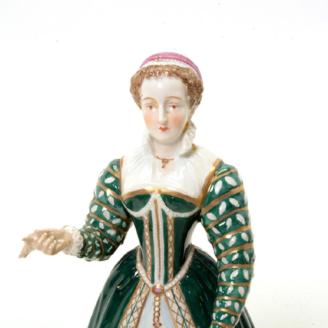 Collection of Three French Porcelain Court Lady Figures - 5