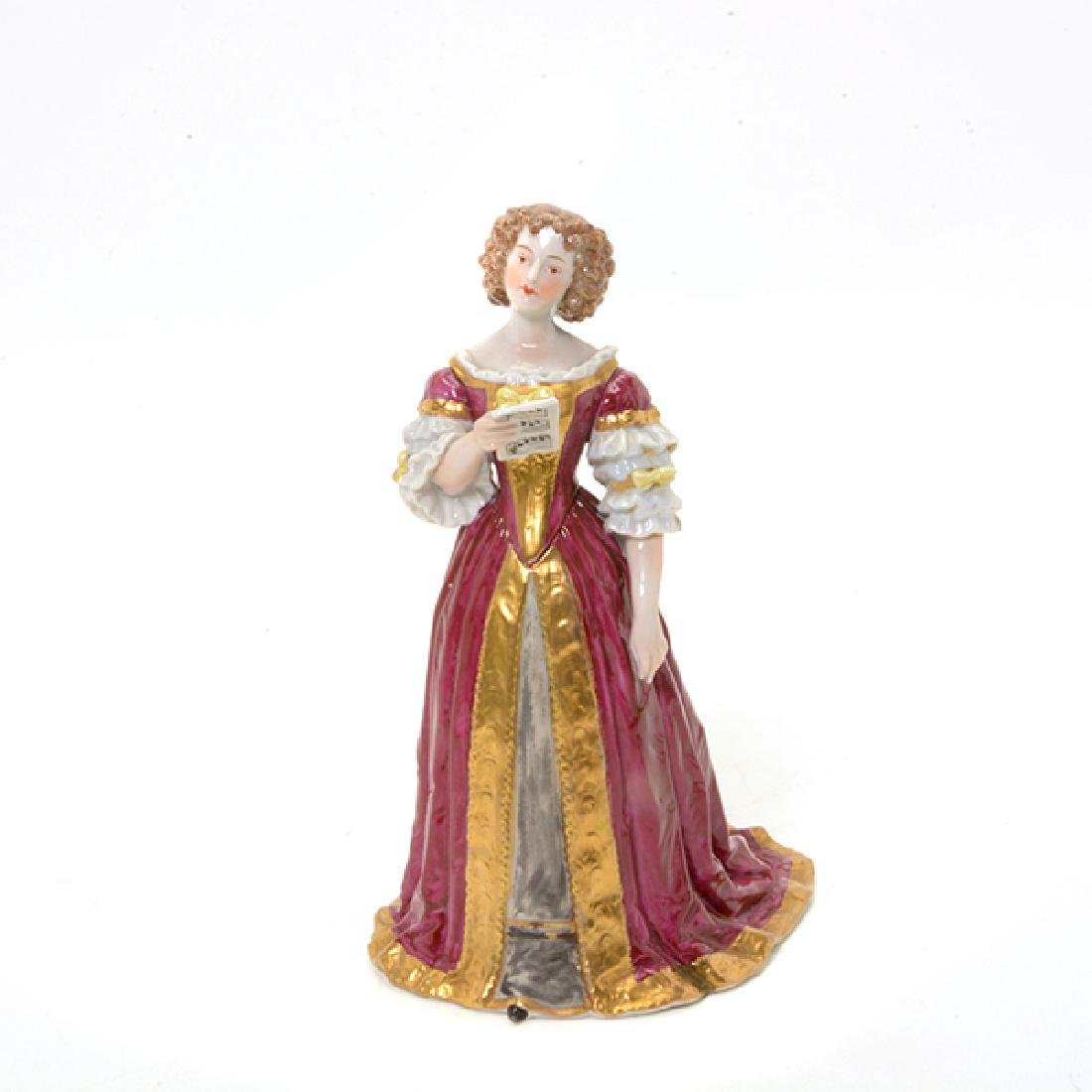Collection of Three French Porcelain Court Lady Figures - 6