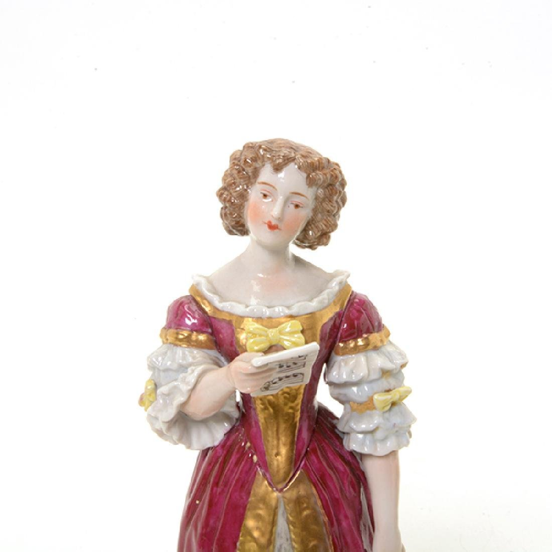 Collection of Three French Porcelain Court Lady Figures - 8