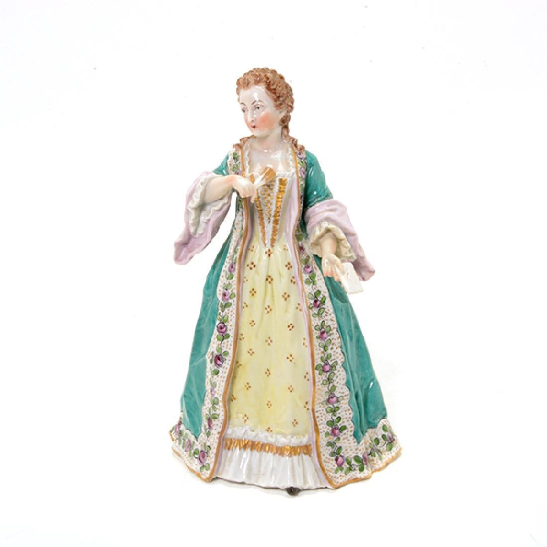 Collection of Three French Porcelain Court Lady Figures - 9