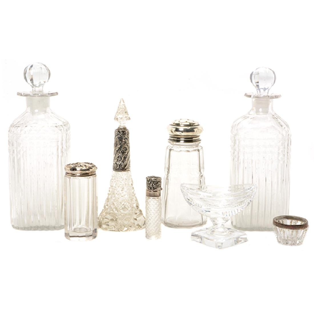 Collection of Anglo-Irish Crystal Table Articles
