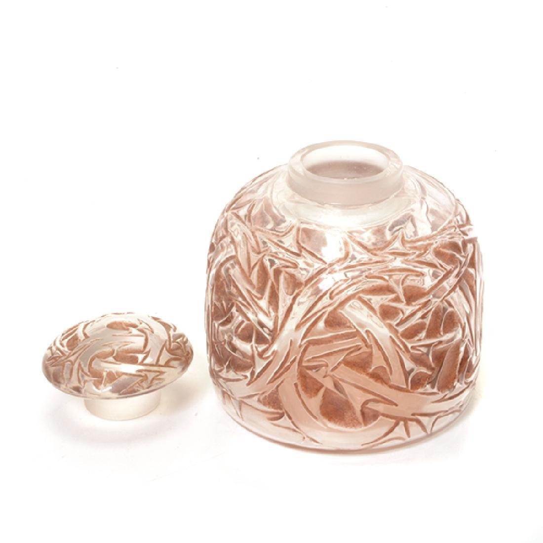 Lalique Scent Bottle and Covered Jar with Steuben - 5