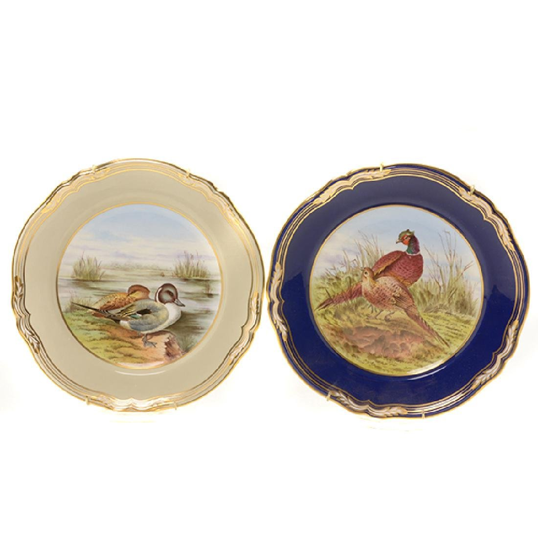 Twelve Spode Plates of Ducks, Fish, and Wildflowers - 5