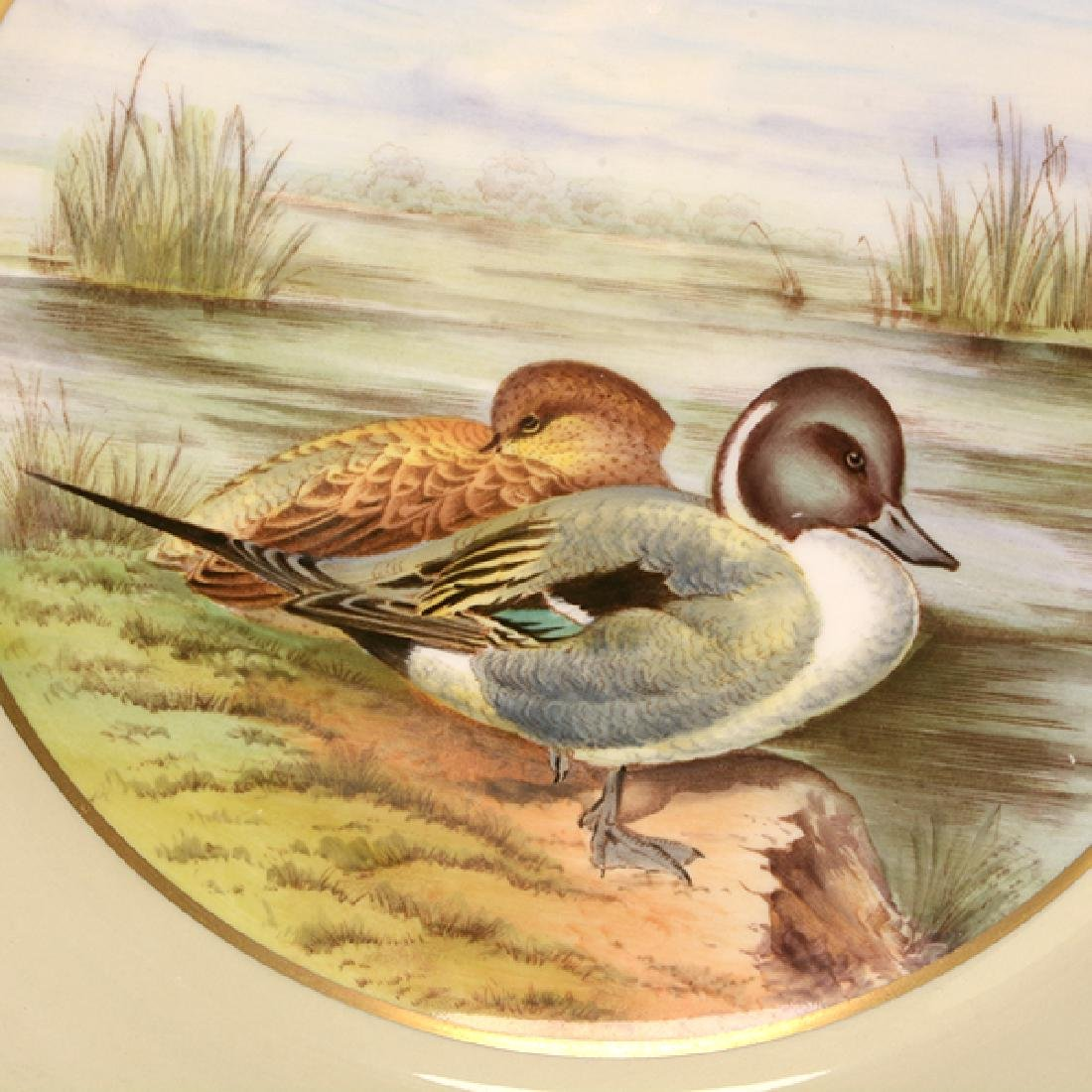 Twelve Spode Plates of Ducks, Fish, and Wildflowers - 7
