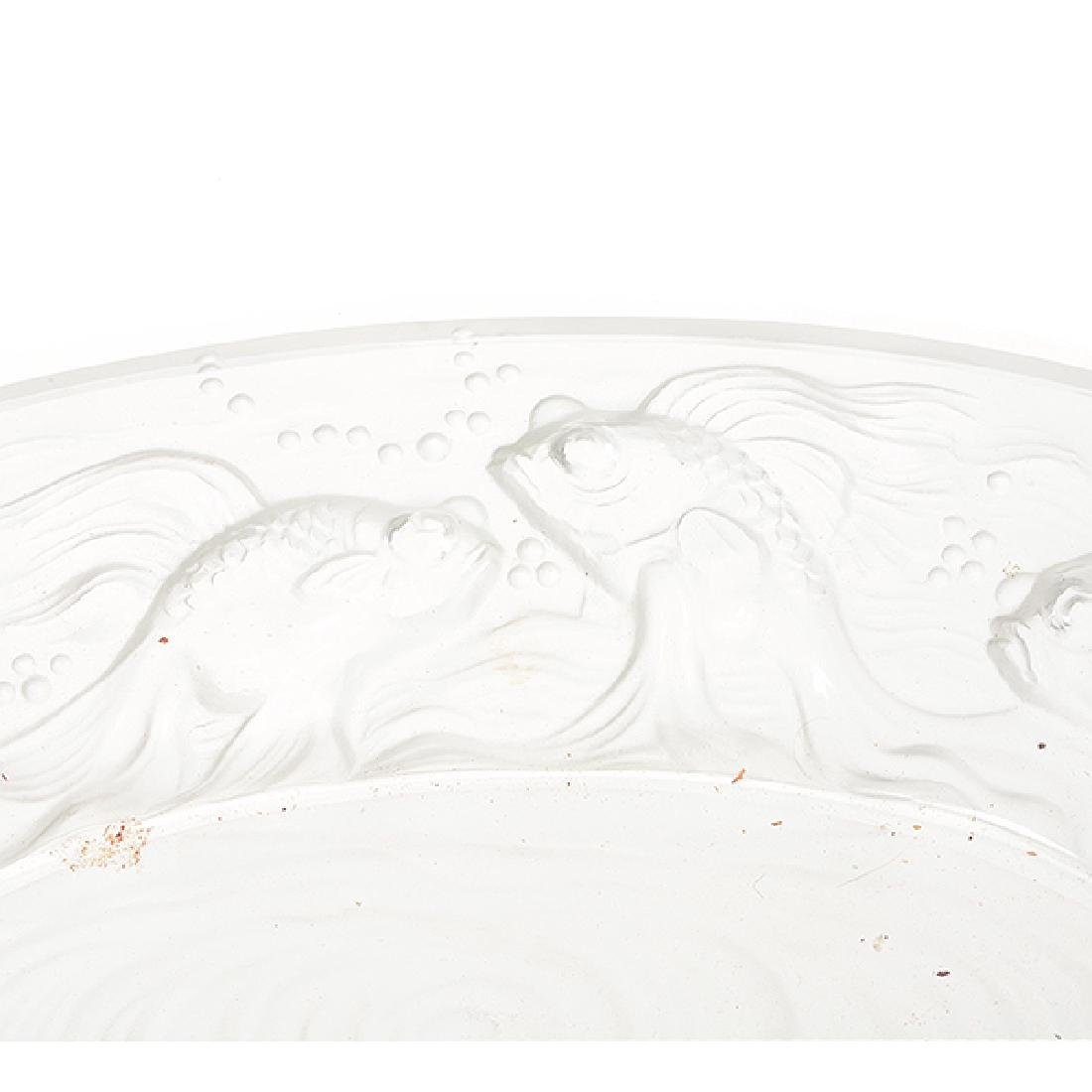 French Frosted Glass Goldfish Centerpiece with Baccarat - 4