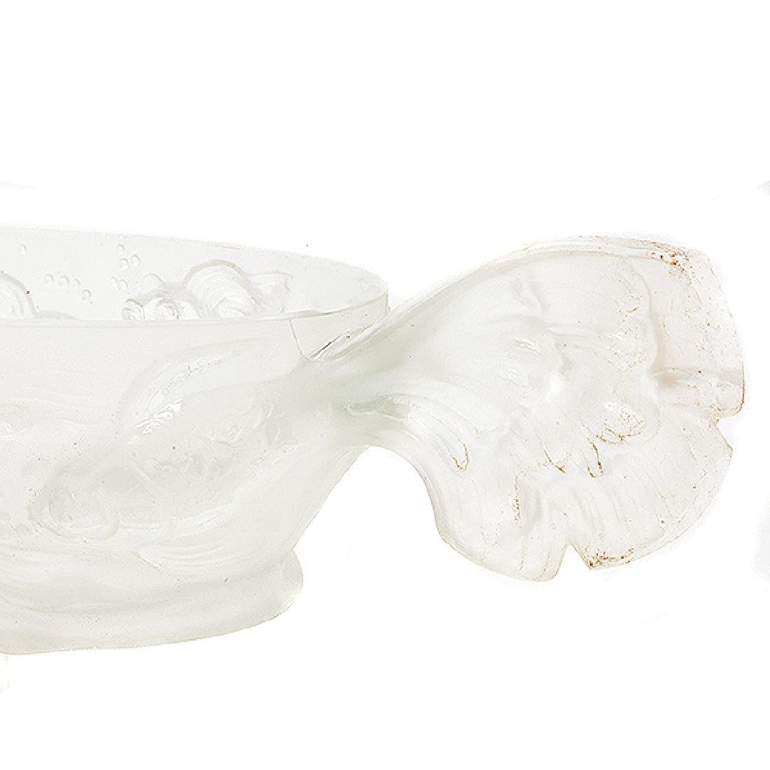 French Frosted Glass Goldfish Centerpiece with Baccarat - 5