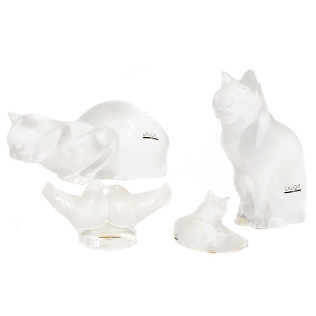 Four Lalique France Animal Figures